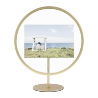 Umbra Infinity Elevated Photo Frame Brass 4X6 Gold