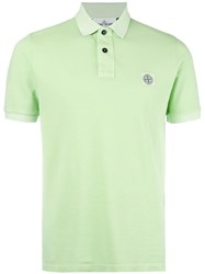Stone Island Logo Patch Polo Shirt Green