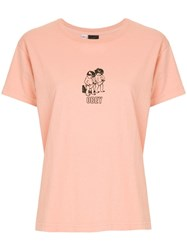 Obey Curious Kiddos T Shirt Pink