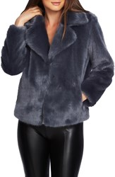 1.State Crop Faux Fur Jacket French Cadet