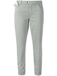 Jacob Cohen Handkerchief Pocket Trousers Nude Neutrals