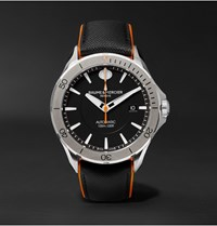 Baume And Mercier Clifton Club Automatic 42Mm Stainless Steel Leather Watch Ref. No. 10338 Black