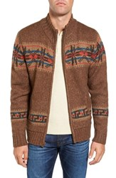 Schott Nyc Men's Zip Cardigan