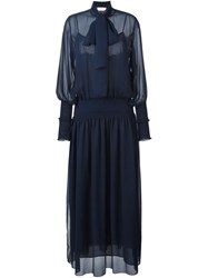 See By Chloe Bow Detail Maxi Dress Blue