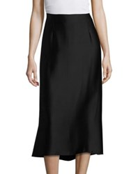 Vince Silk Slip Skirt Black