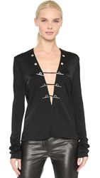 Thierry Mugler Long Sleeve Top Black