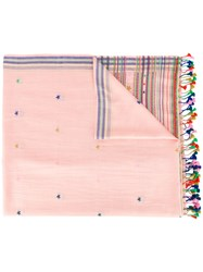 Paul Smith Ps By Striped Star Scarf Pink Purple