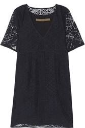 Enza Costa Burnout Voile Mini Dress Black