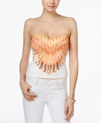 Guess Sonya Strapless Printed Bustier Setting Sun Bustier