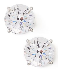 Fantasia Round Cubic Zirconia Stud Earrings 9Mm