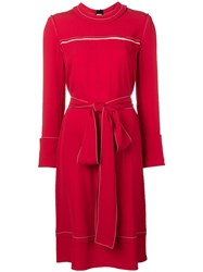 Marni Belted Sweater Dress Red