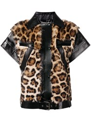 Givenchy Zipped Leopard Vest Black