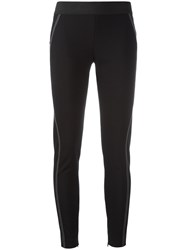 Stella Mccartney Stitching Detail Leggings Black