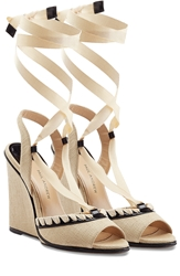 Paul Andrew Neapoli Wedges With Leather