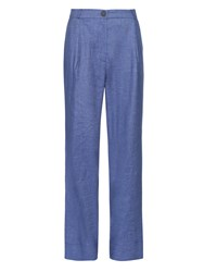 Vivienne Westwood Wide Leg Pleated Denim Trousers