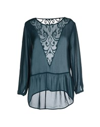 Only Shirts Blouses Women Emerald Green