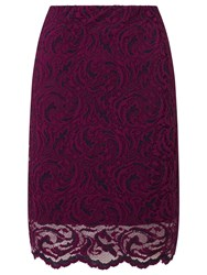 Samsoe And Samsoe Alia Lace Pencil Skirt Dark Purple