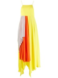Unravel Project Pleated Draped Dress Yellow