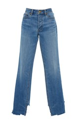 Tory Burch Serena Slouchy Staight Leg Jeans Blue