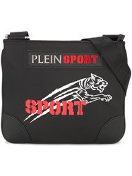 Plein Sport Logo Patch Messenger Bag Black