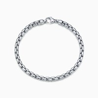 Tiffany And Co. Square Link Bracelet In 18K White Gold. 18K White Gold W Pd