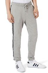 Topman Men's Stripe Taped Sweatpants Grey