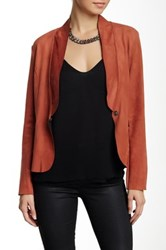 Luma Faux Suede Jacket Red