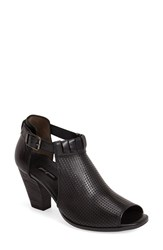 Women's Paul Green 'Colleen' Perforated Leather Sandal Black Leather