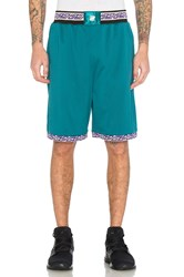 Undefeated Authentic Basketball Short Teal