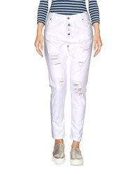 Miss Miss By Valentina Denim Bermudas White