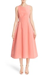 Carolina Herrera Women's Back Bow Tie Silk Faille Midi Dress