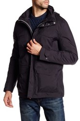 Save The Duck Hooded Funnel Neck Jacket Black
