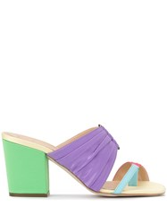 Rosie Assoulin Rainbow Pleated Mules 60