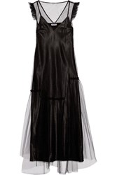 Opening Ceremony Ruffle Trimmed Tulle Maxi Dress Black