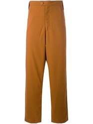 Telfar Loose Fit Trousers Brown