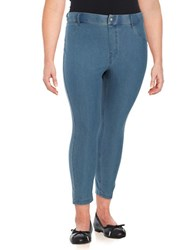 Hue Plus Essential Denim Capri Leggings Stone Acid
