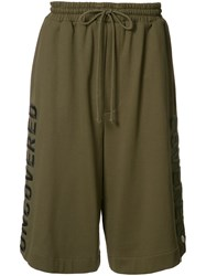 Juun.J Embroidered Track Shorts Green