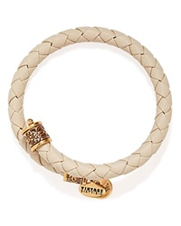 Alex And Ani Vintage 66 Braided Leather Wrap Bangle Powder Rafaelian Gold