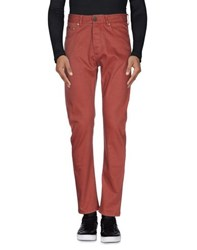 Armani Collezioni Denim Denim Trousers Men Brick Red