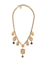 Dolce And Gabbana Necklace With Pendants Gold