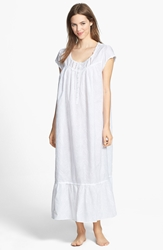Eileen West 'Stellar Sky' Embroidered Ballet Nightgown White White Embroidery