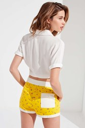Urban Outfitters Uo Gidget Tie Front Board Short Yellow