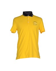 Cooperativa Pescatori Posillipo Topwear Polo Shirts Men Yellow
