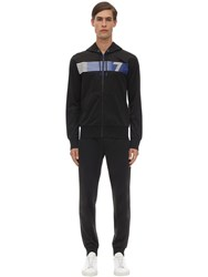 Emporio Armani Train 7 Acetate Sweatshirt And Sweatpants Black
