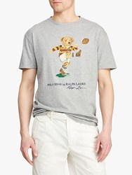 Ralph Lauren Polo Rugby Bear T Shirt Andover Heather