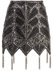 Attico Beaded Skirt Black