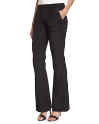 Haute Hippie Silk Satin Flare Pants Black Women's