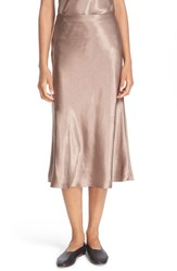 Vince Women's Satin Flare Midi Skirt