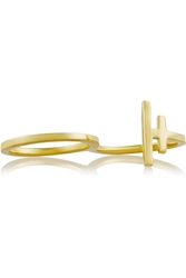 Maria Black Hue Gold Plated Silver Ring