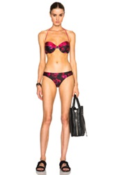 We Are Handsome Cupped Bikini In Pink Animal Print Red Black